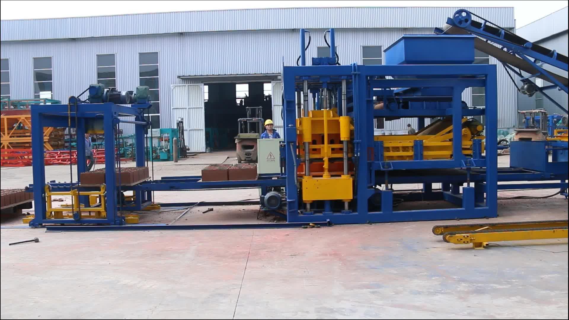 QT10-15 otomatik çimento beton blok yapma makinesi fiyat tuğla makinesi