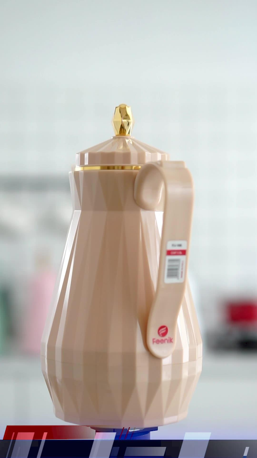 Daydays 1 Liter ABS Kunststoff Wasser Tee Vakuum Glaskolben Arabisch Kaffee Thermoskanne