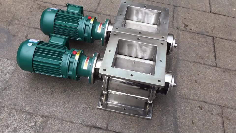 D200 mm edelstahl 304 dreh luftschleuse ventil