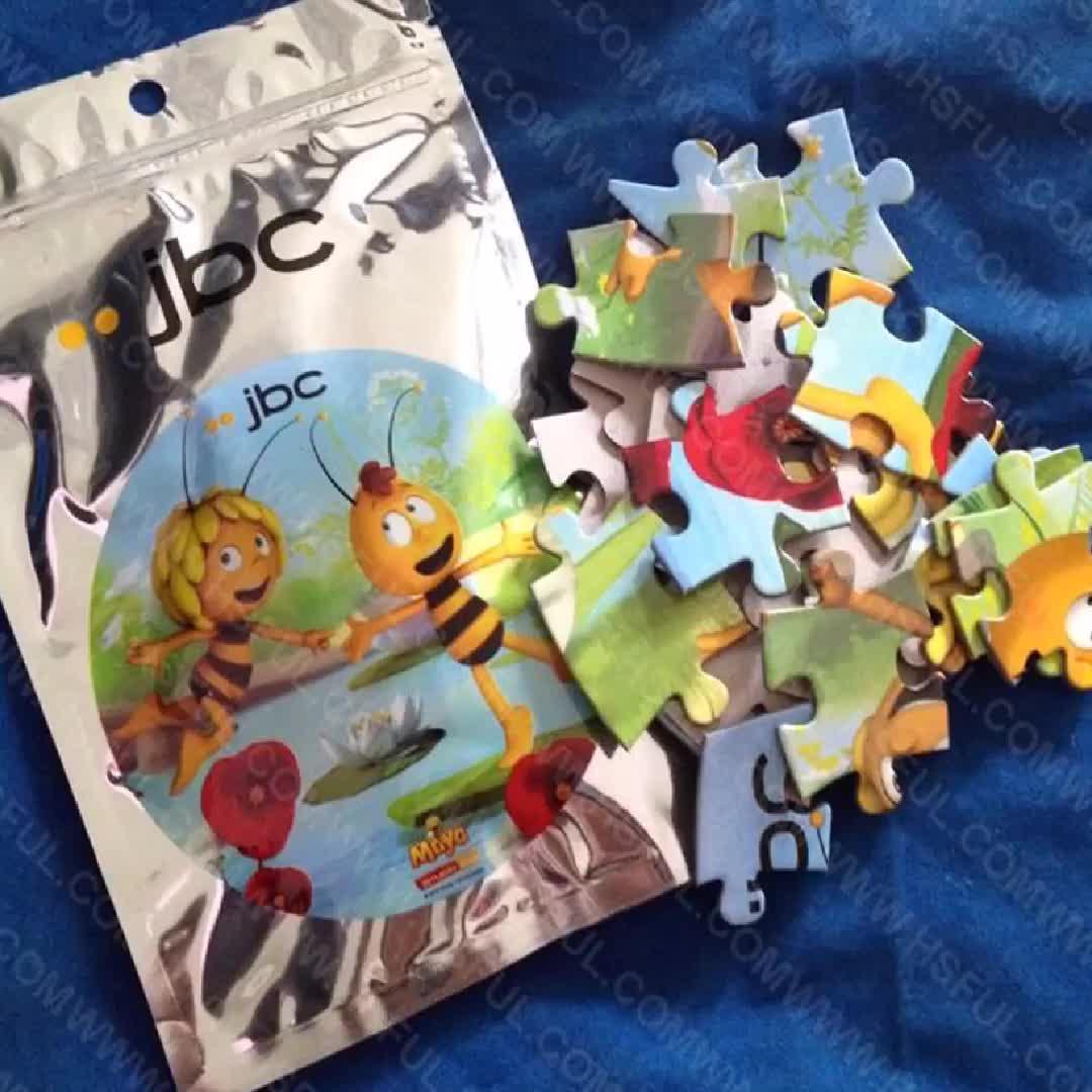 आकार अनुकूलित मुद्रण पाकिस्तान बच्चों खिलौना; बच्चों के खेल 24pcs सस्ते कीमत उच्च गुणवत्ता 150 टुकड़े पशु आरा गत्ते का डिब्बा पहेली