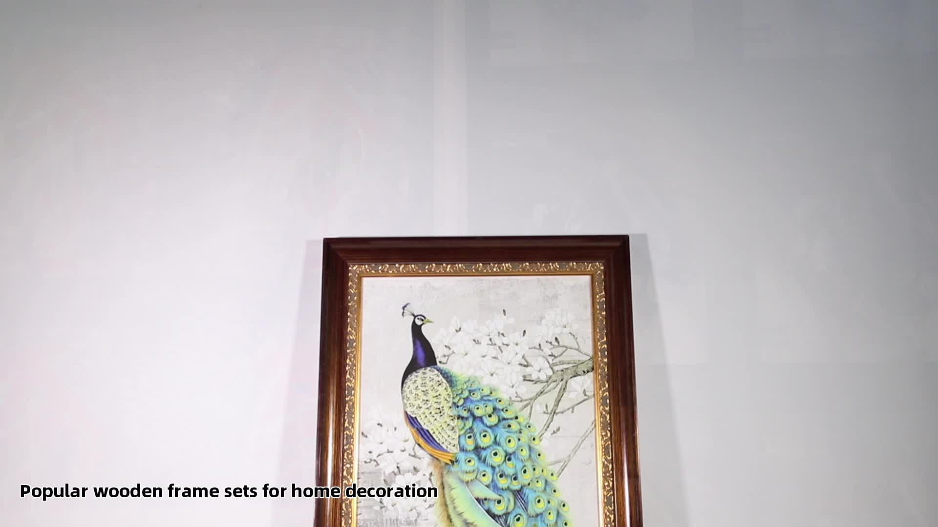 Handmade Traditional Gold Ornate Solid Wood Carved Ready Made Antique Oil Painting Frame