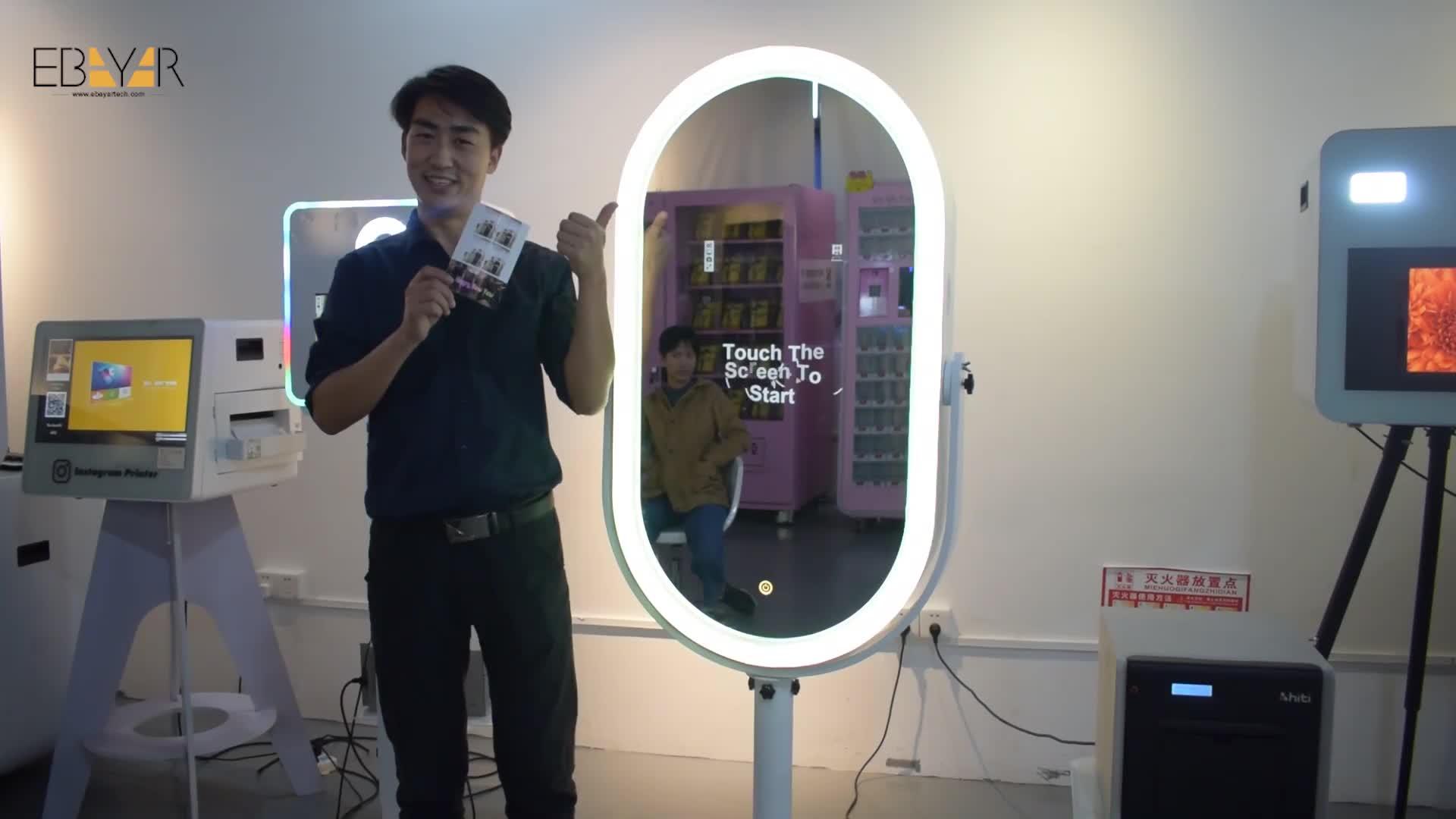 Magic Mirror Photo Booth สำหรับขาย Selfie Fotomation แบบพกพา Photo บูธกับ Touch Screen