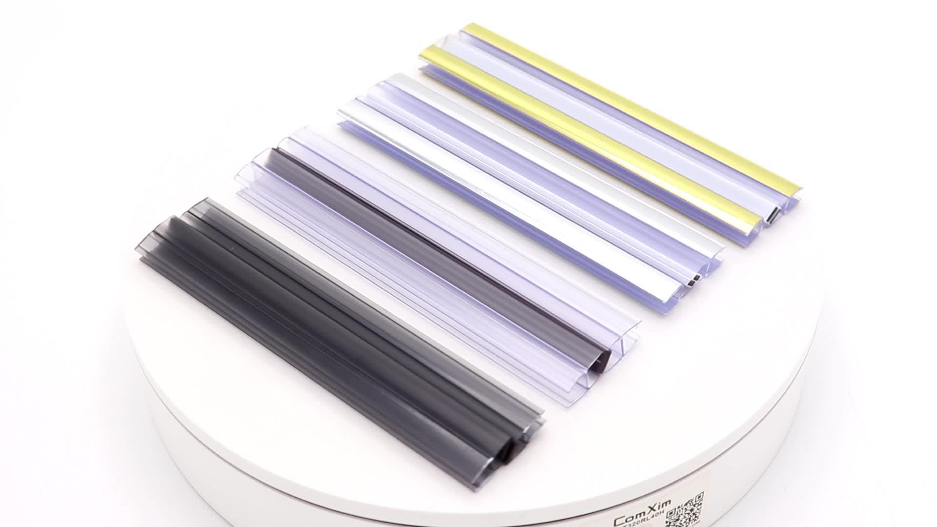 Bathroom glass shower door plastic seal strip rubber strip sliding door seal