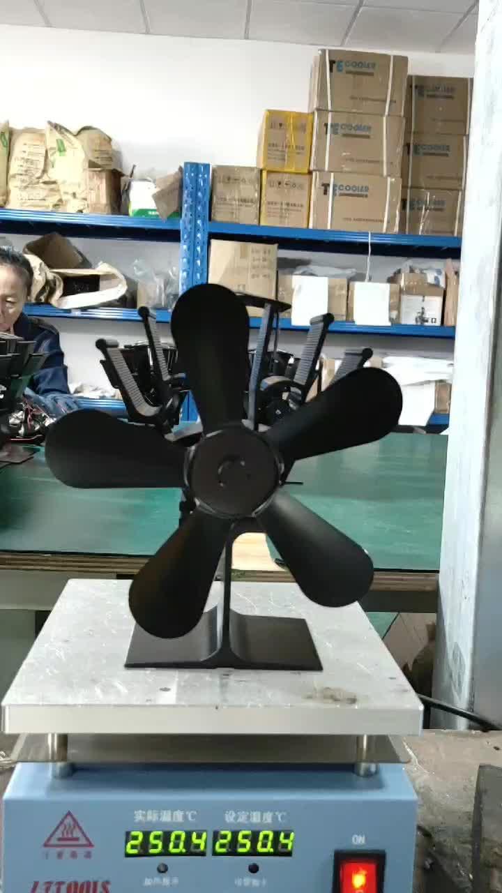 CE Certification 5 Blades Eco Friendly Ecofan 비 전기 나무 스토브 팬