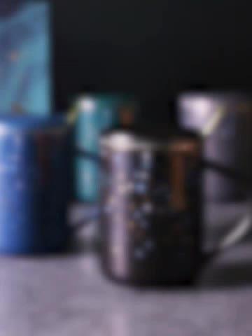 हीरे के आकार काले और सफेद चीनी मिट्टी नॉर्डिक-ड्राइंग सोने-rimmed कॉफी कप
