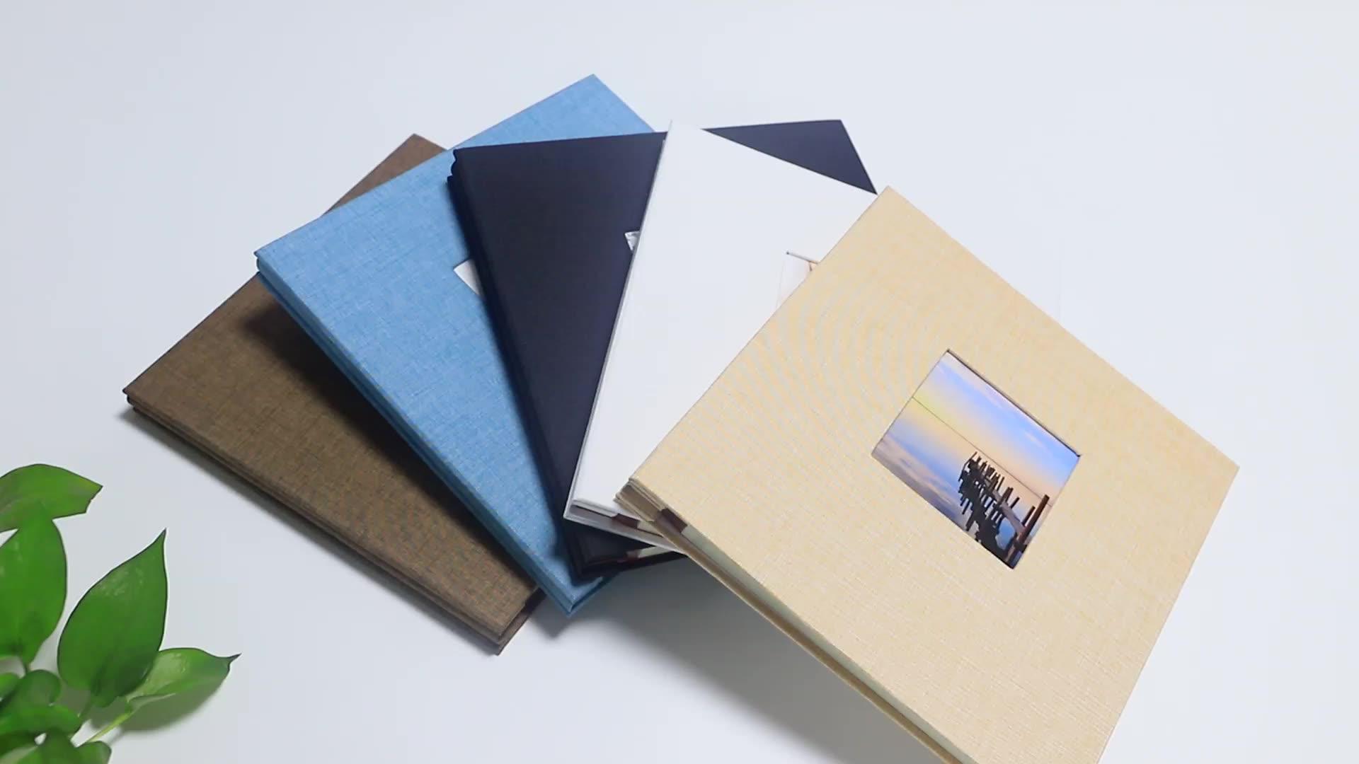 White cloth cover 4r self-adhesive photo album manufacturer