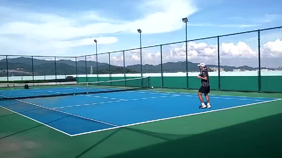 Tennis Vorhand Technik Training partner