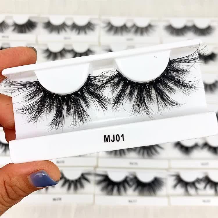 Cruelty free full strip eyelashes 3d mink eye lashes fluffy 25mm mink lashes