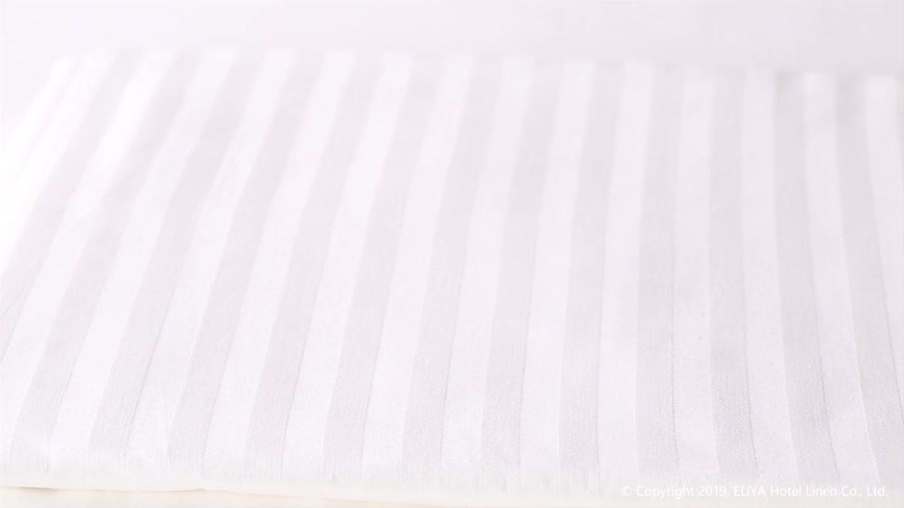 高級 5 スターホテル刺繍綿 100% パーケール種類ベッドシートリネン白ホテルシーツ