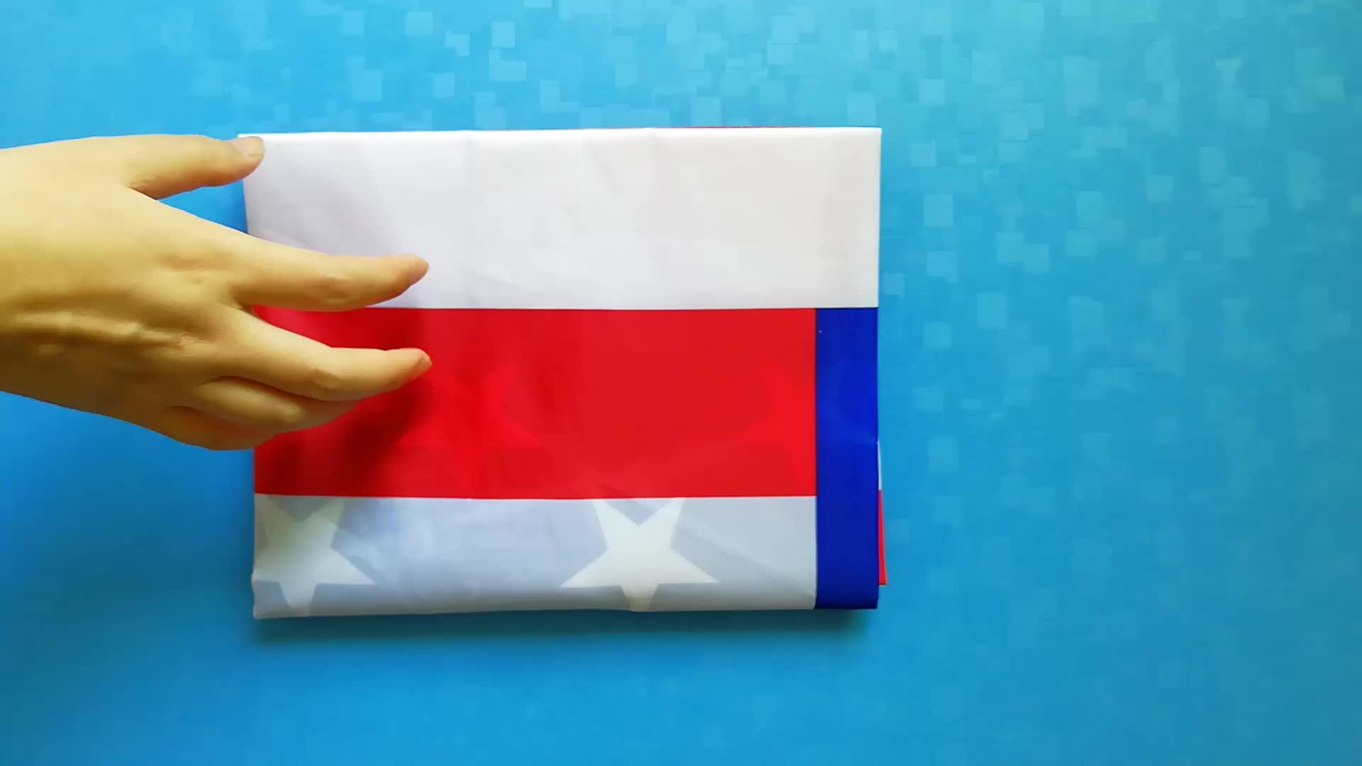 संयुक्त राज्य अमेरिका राष्ट्रीय देश झंडा 3x5ft कशीदाकारी के साथ 210D नायलॉन यूएसए अमेरिकी ध्वज सितारे और सिलना धारियों