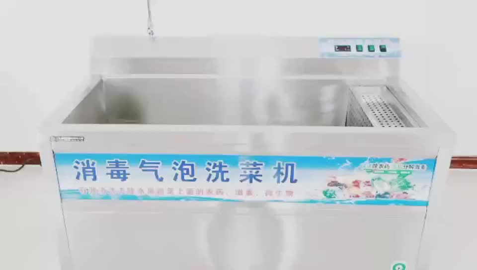 SUS304 120*80*98cm  vegetable and fruit cleaning machine vegetable and fruit ozone washer