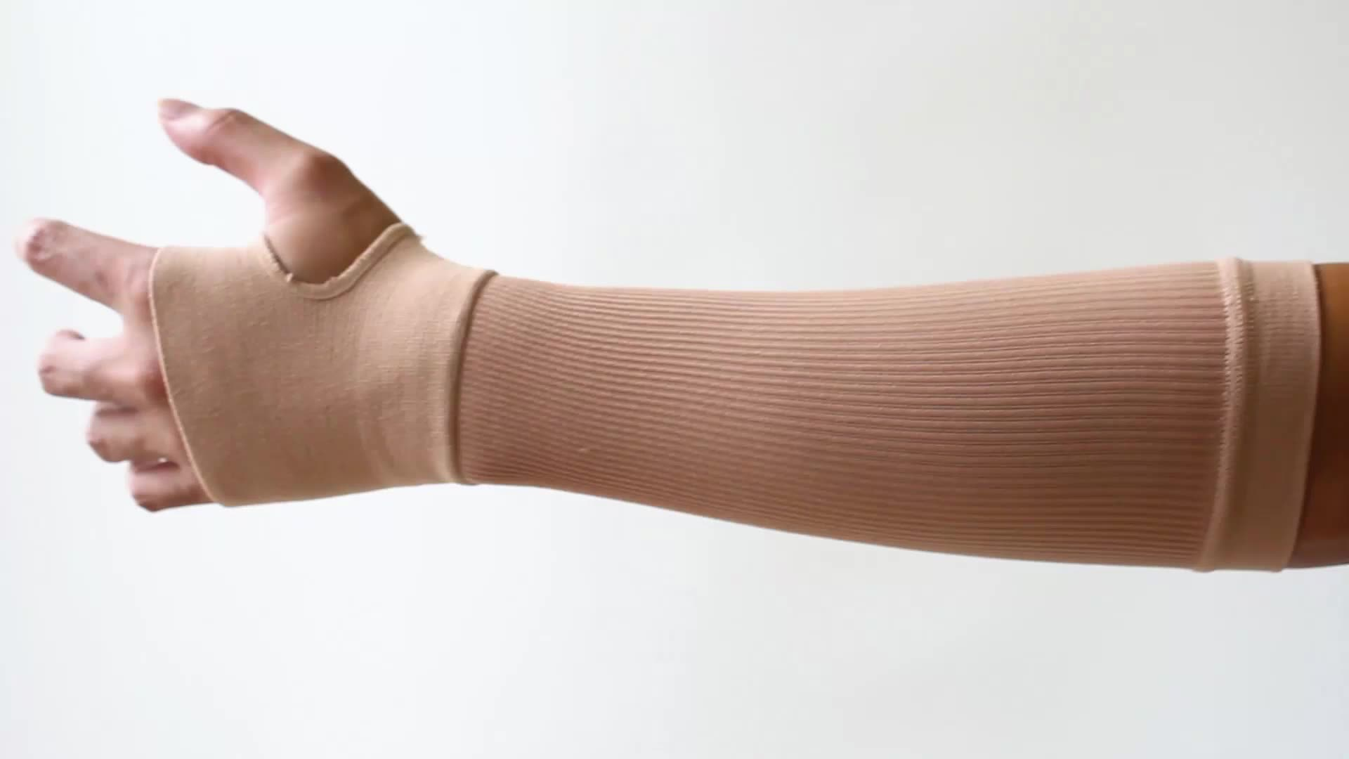 Custom Medical Compression Wrist Support Brace with Thumb Palm Compression Arm Sleeve