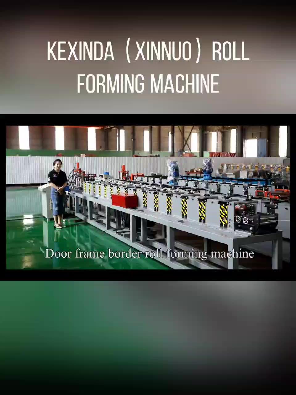 Best price PLC system metal door frame press rolling shutter making machine