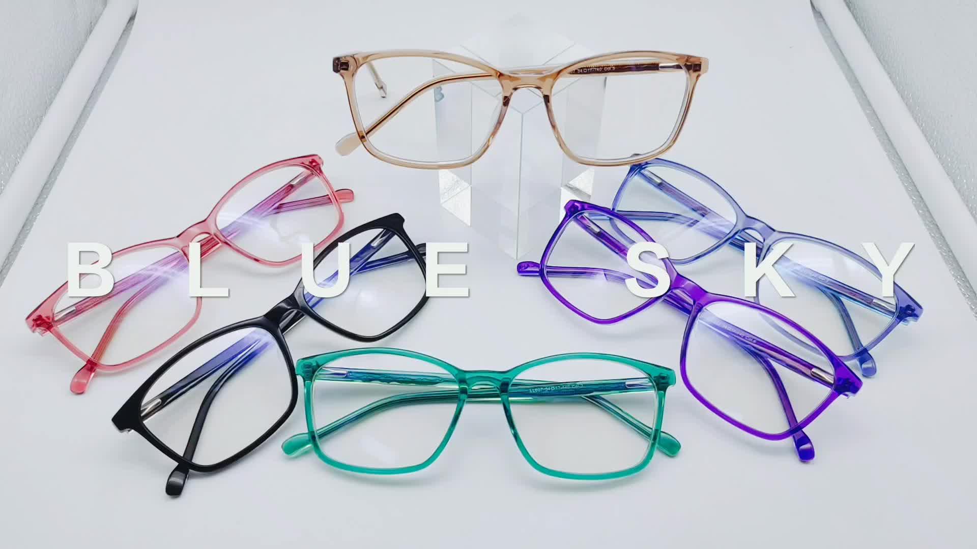 Manufacturer custom women colorful fashion acetate optical eyeglasses frame