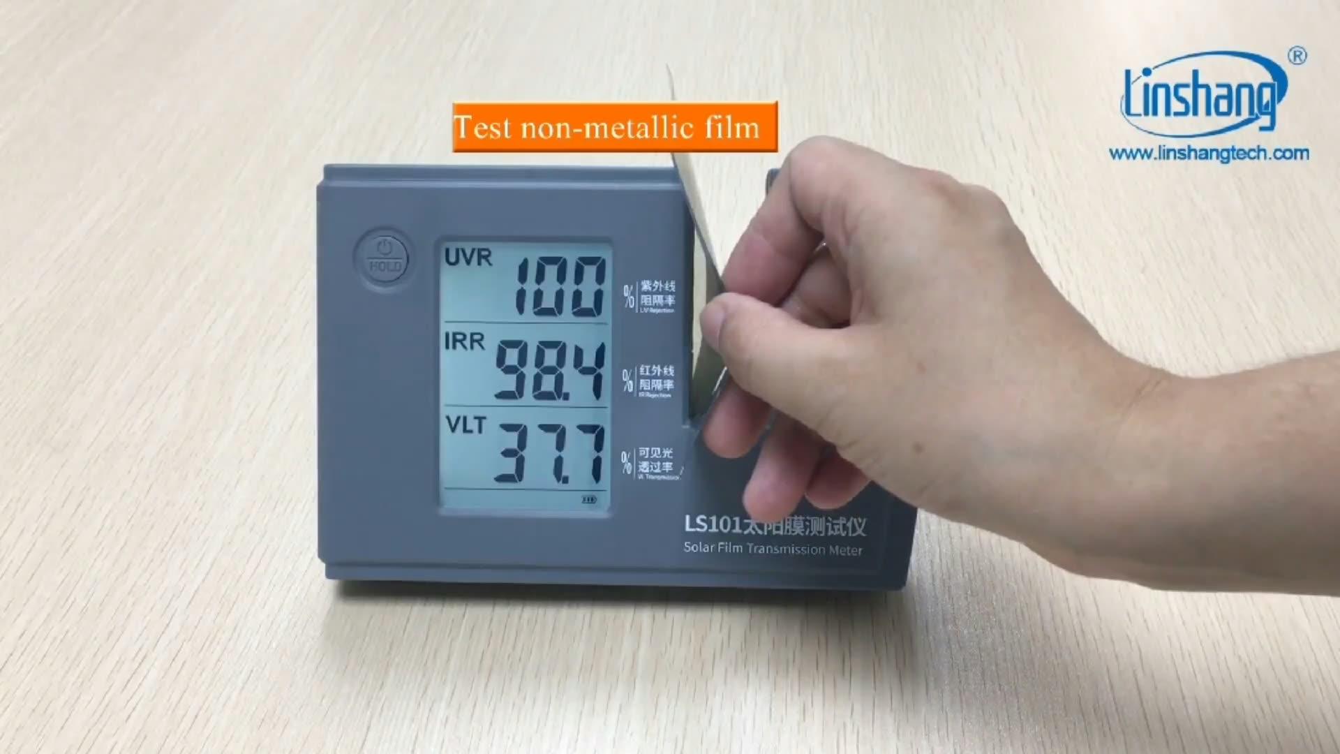 Portable Window Tint Transmission Meter Linshang LS101 for Ultraviolet Infrared Rejection Rate Visible Light Transmission