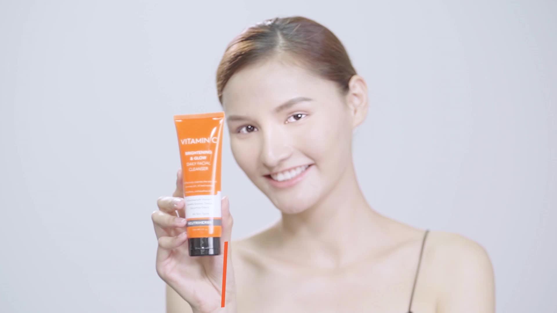 Kustom Private Label Organik Whitening Vitamin C Dalam Pori Pembersih Terbaik Wajah