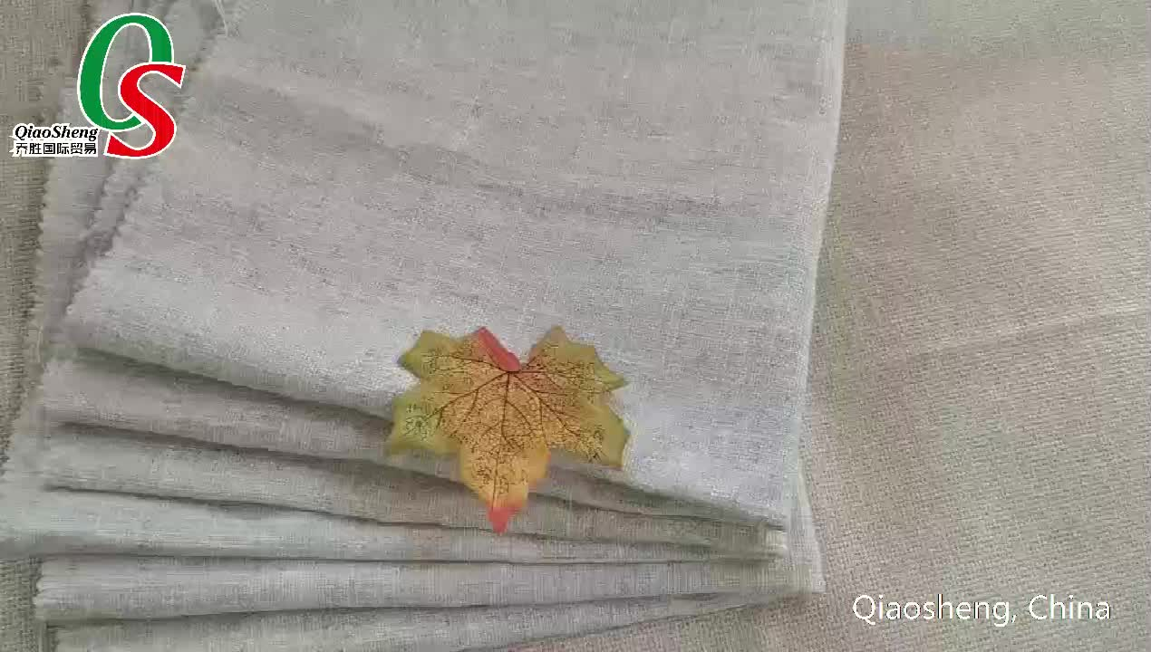 Factory wholesale  linen cotton coating fabric for sofa and curtains