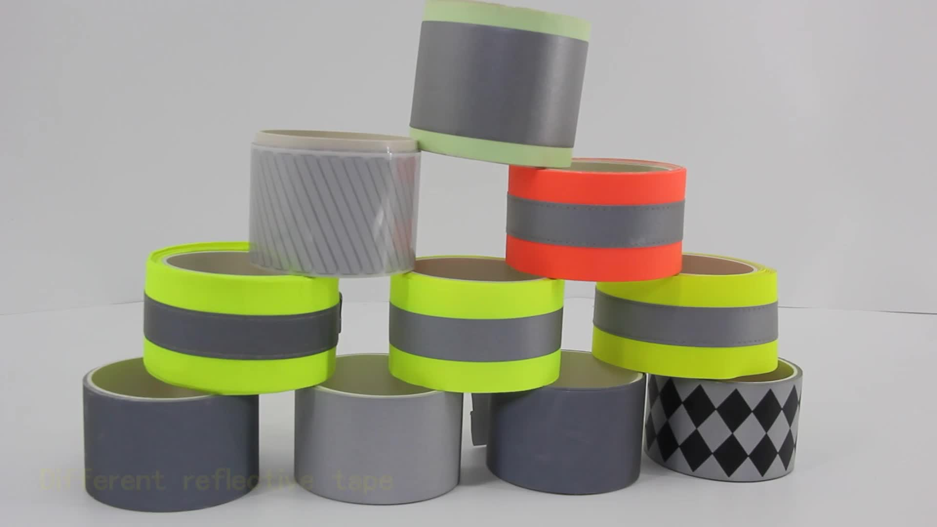 Flame resistance fluorescent reflective tape,yellow-sliver reflective tape for firefighter garment