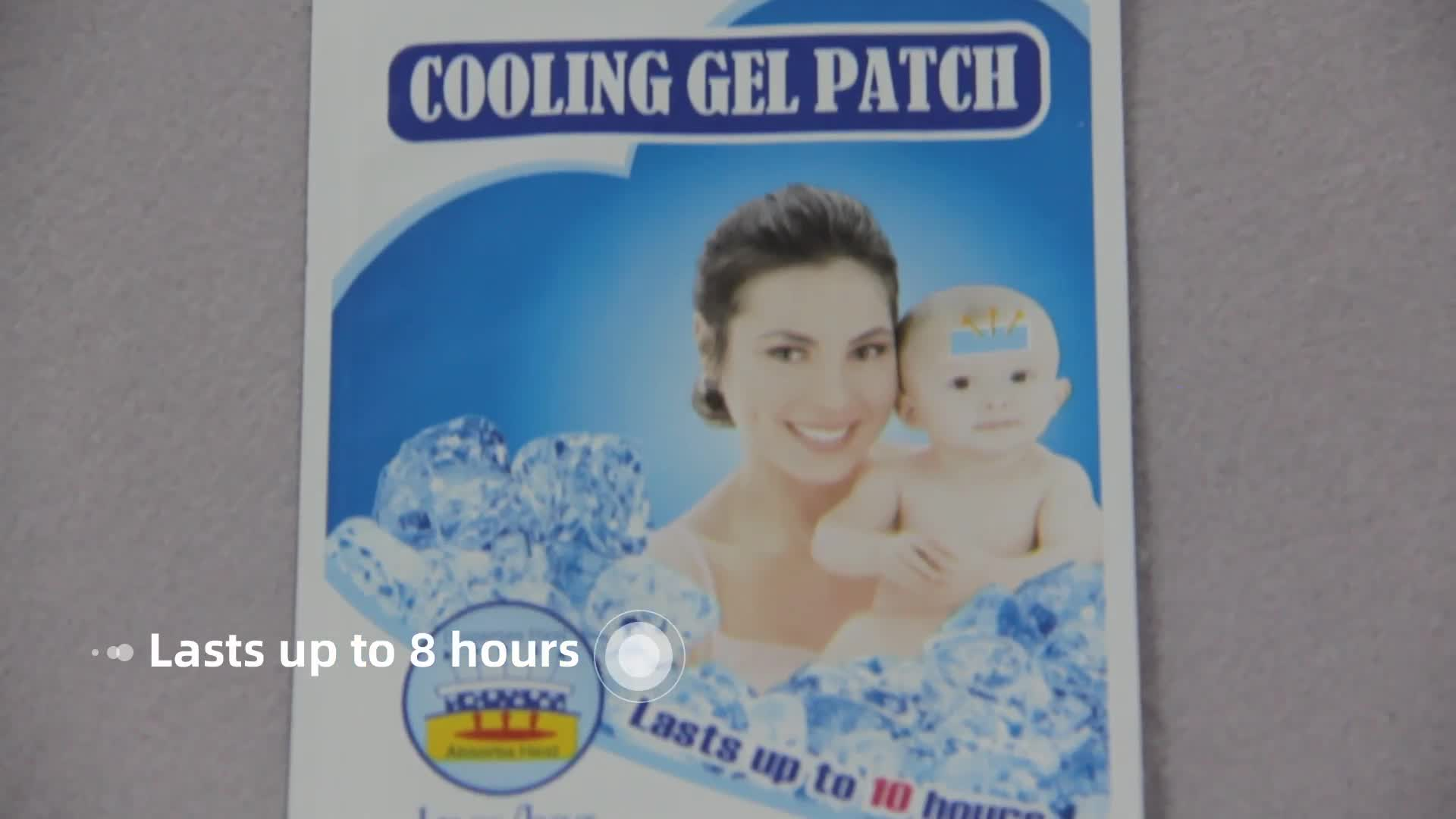 Safe and good smell cooling gel forehead patch for baby fever