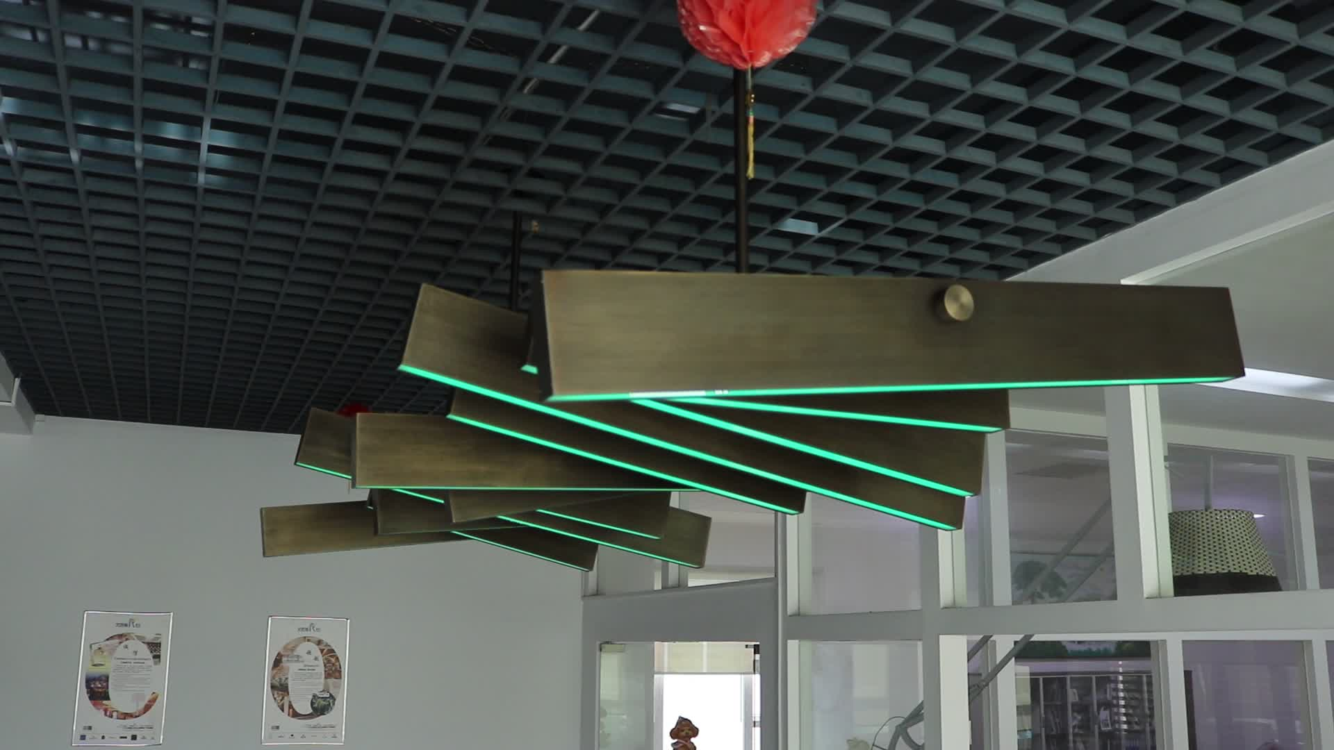 Custom made modern flexible project pendant lamp chandelier for hotel corridor