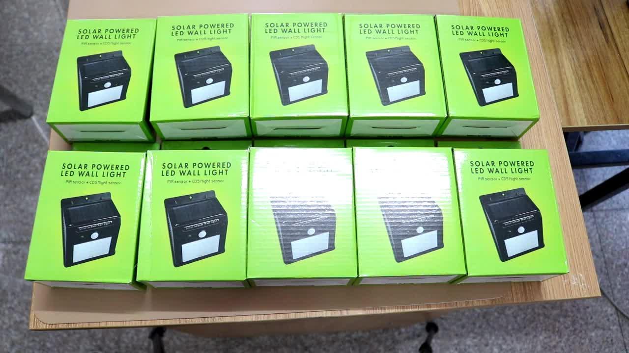 100 LED Sensor de movimiento solar al aire libre de Luz Súper brillante casa luz solar del jardín