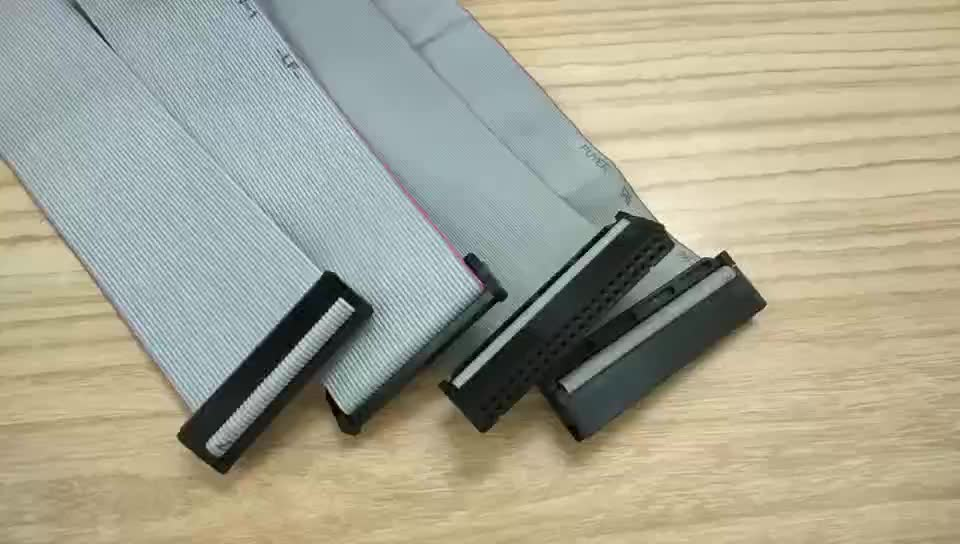 OEM Factory Custom High Temperature FFC FPC 1.27mm 2mm 2.54mm Pitch 10 15 16 20 50 PIN Flat IDC Ribbon Cables for PCB Mount