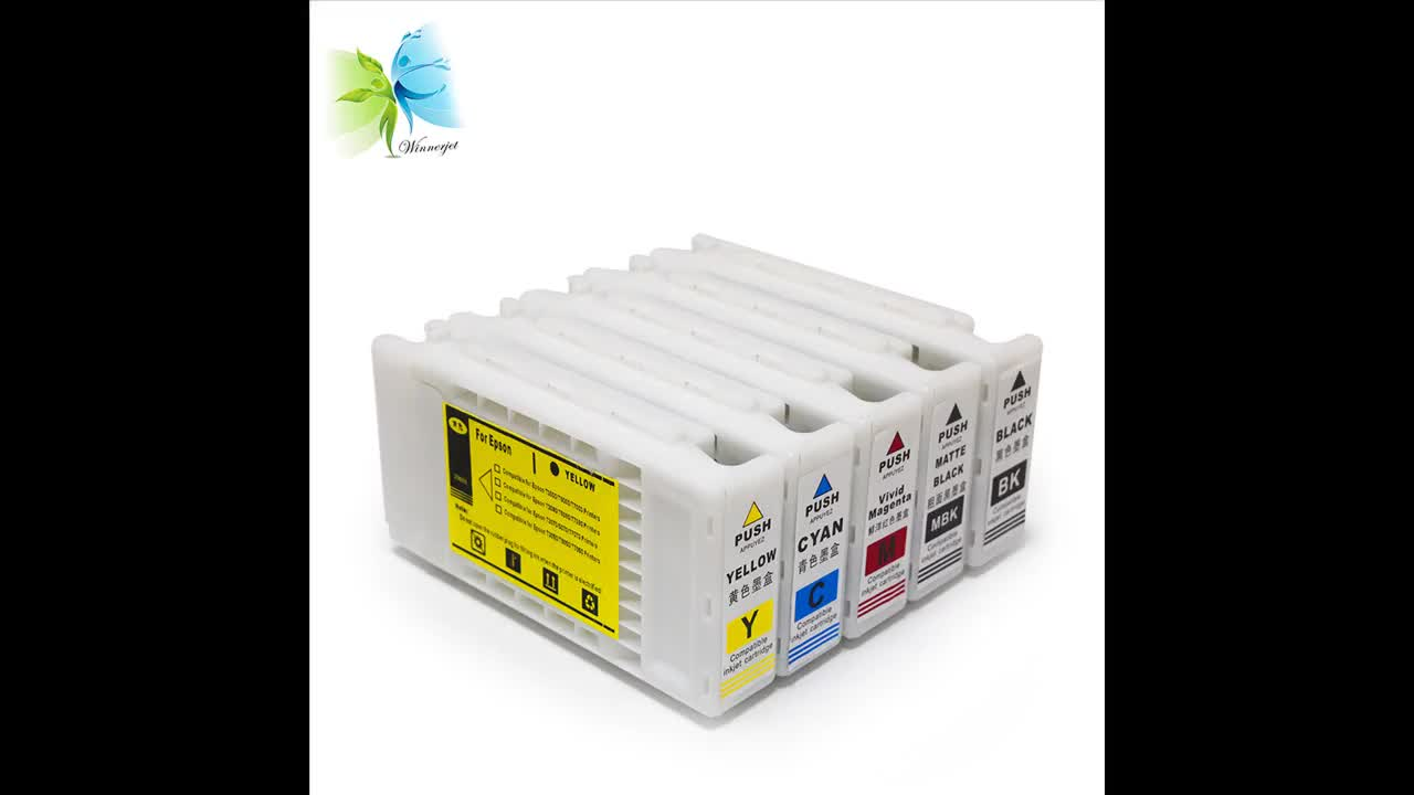 5 colors 350ml T6931-T6935 compatible ink cartridge for EPSON SureColor SC T3000 T5000 T7000, T693 ink cartridge