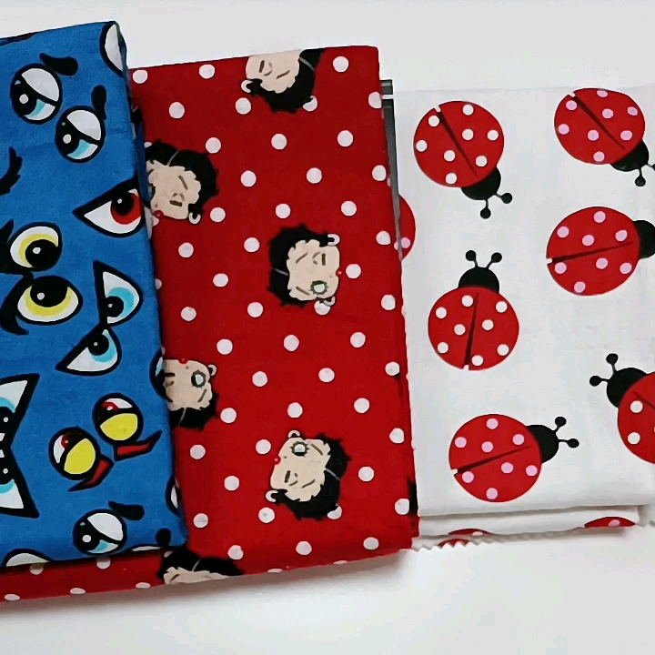wholesale custom printed woven cotton double-sided flannel fabric