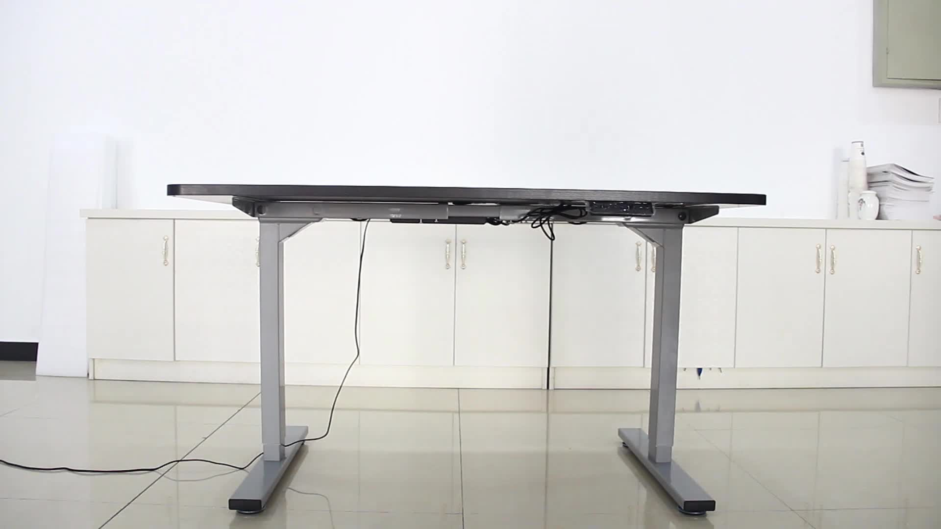 Офисная мебель Горячая продажа стоьте вверх стоьте компьютерный стоящий стол регулируемый по высоте электрический стол