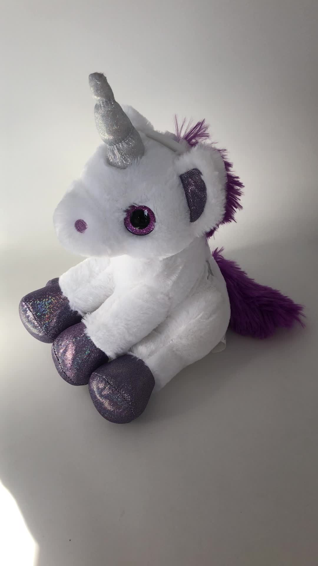 Wholesale unicorn plush coin bank saving money box manufactory