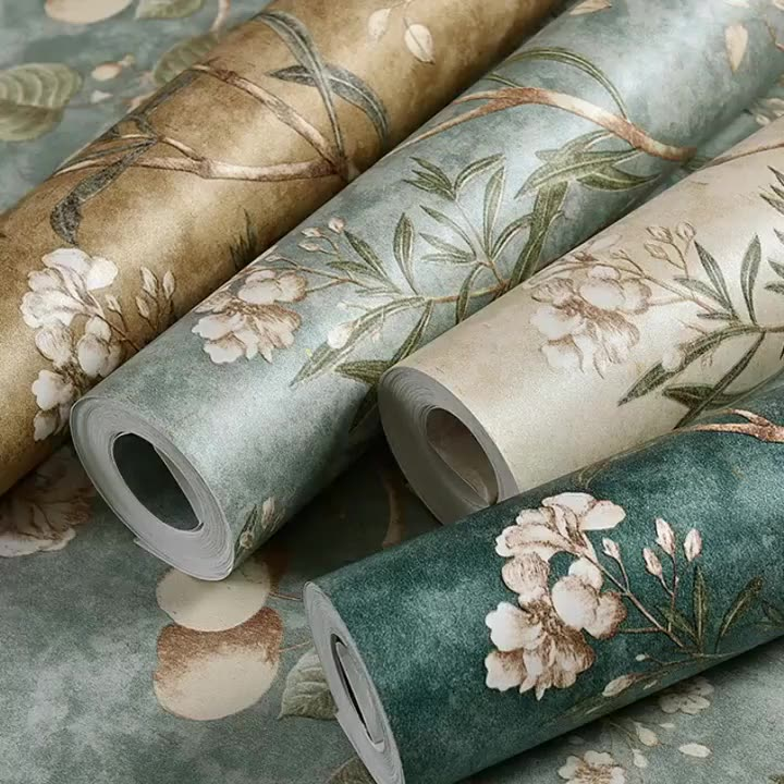 Timbul Damask Bunga Interior Rumah Wallpaper Di Pakistan