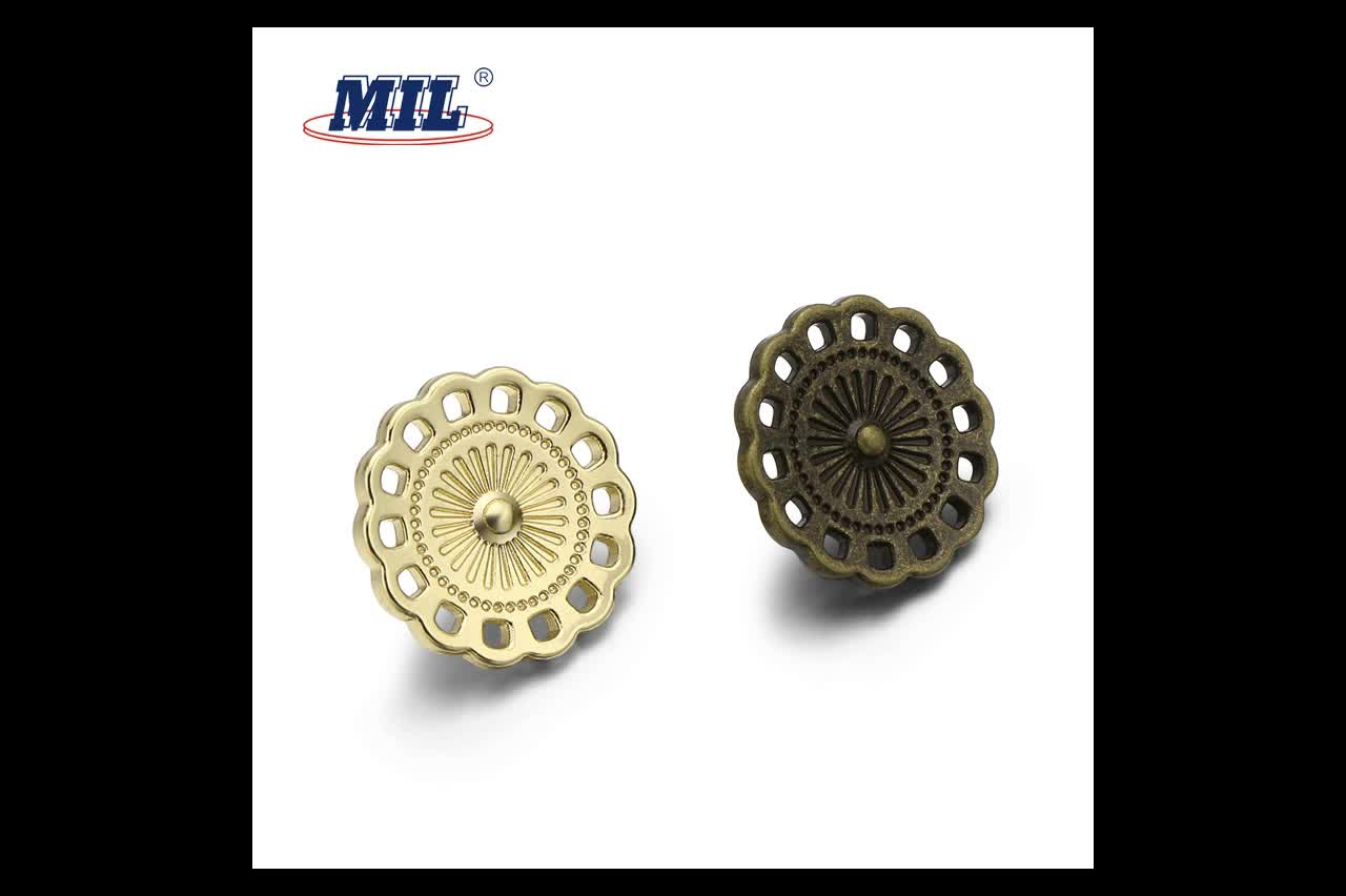 New style fashion letters sewing pin metal buttons for lady dress