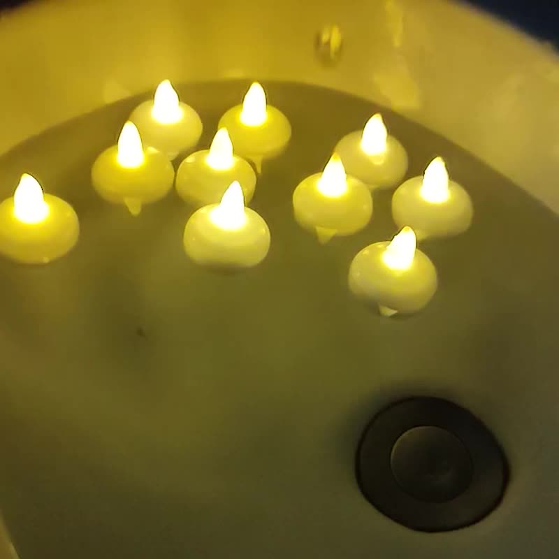 12 pcs Battery operated Led waterproof candle light floating for Bar decoration