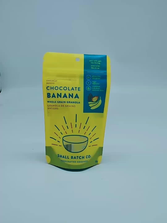 Custom gedrukt food grade goedkope ziplock stand up pouch plastic tas afdrukken