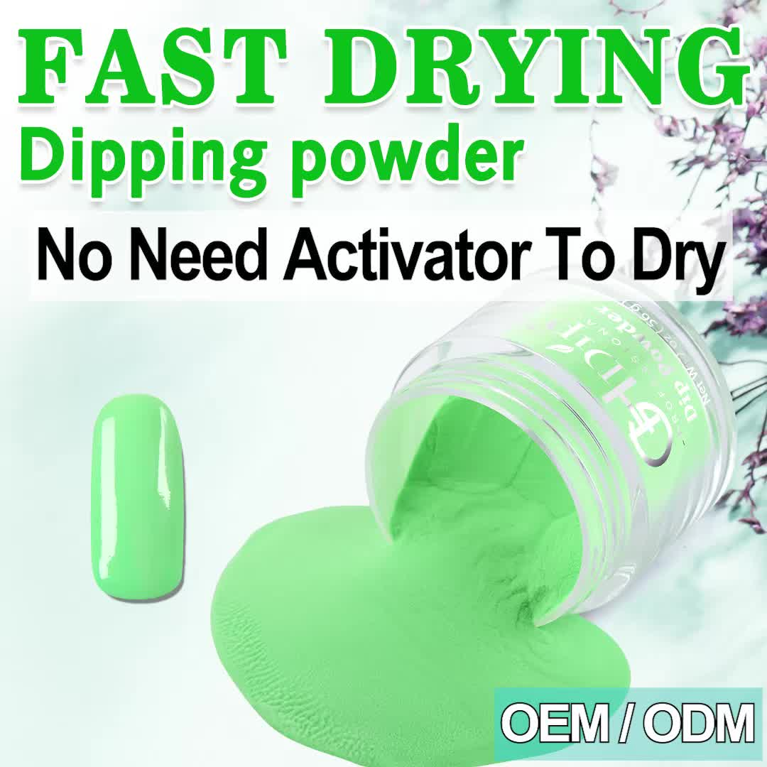 Custom Private Label 2000 colors Acrylic Dipping Powder 3 in 1 Perfect match Gel Polish