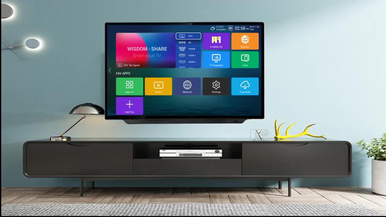 Haina OEM popular 32 38.5inch solar 12V dc led lcd tv television in ethiopia