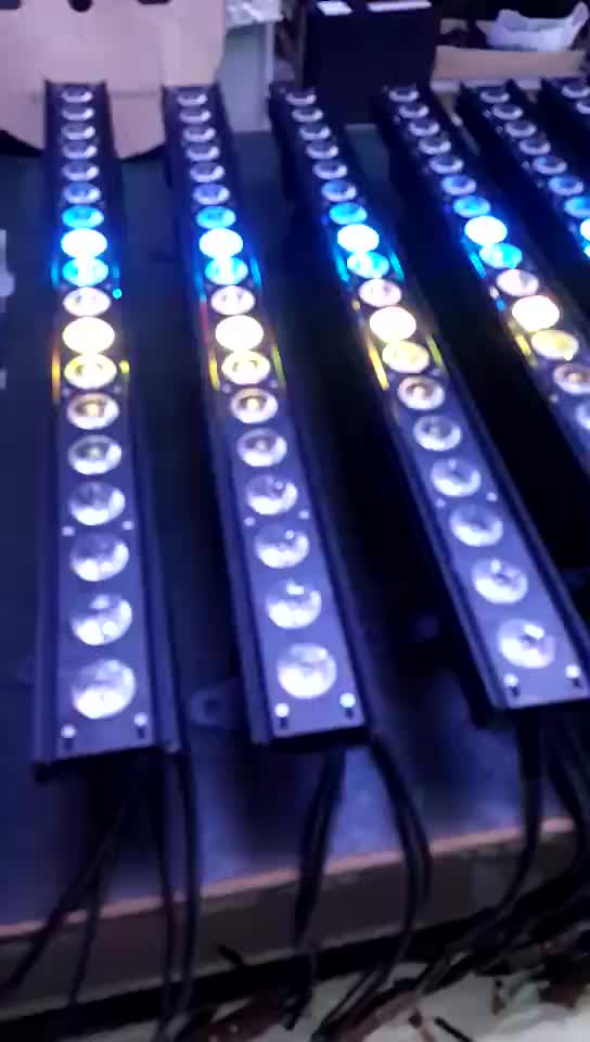 18x15W RGBWA UV 6 in 1 Point control party show Led Bar Light Wall Washer