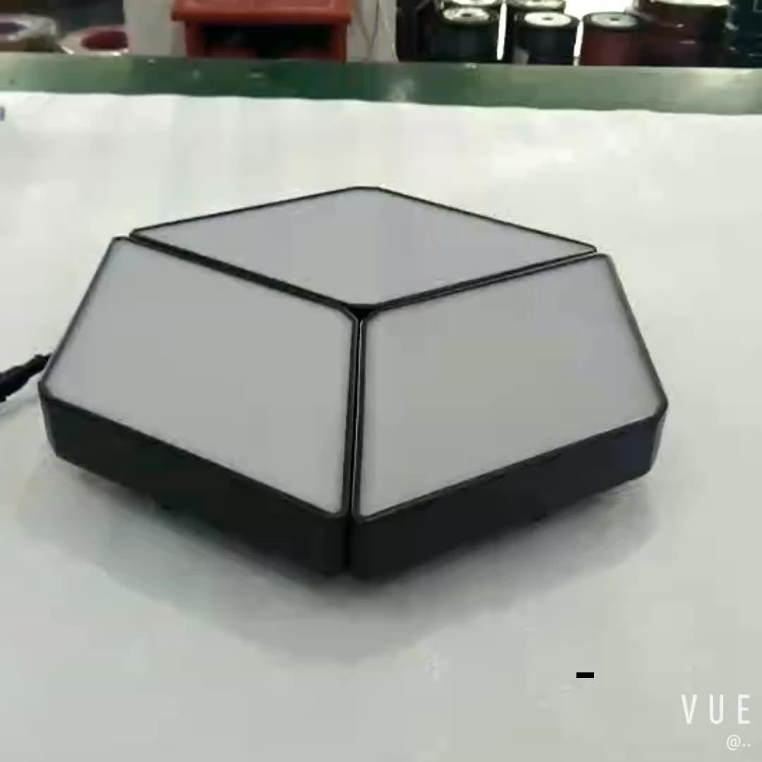 24V 18x18cm DMX 다색 평면 천장 RGB RGBW LED 패널 빛 3D 조명 효과