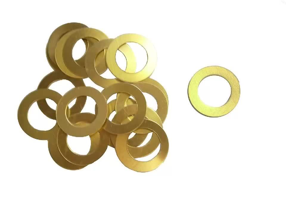 De alta precisión de metal estampado de piezas arandela plana latón shim arandelas
