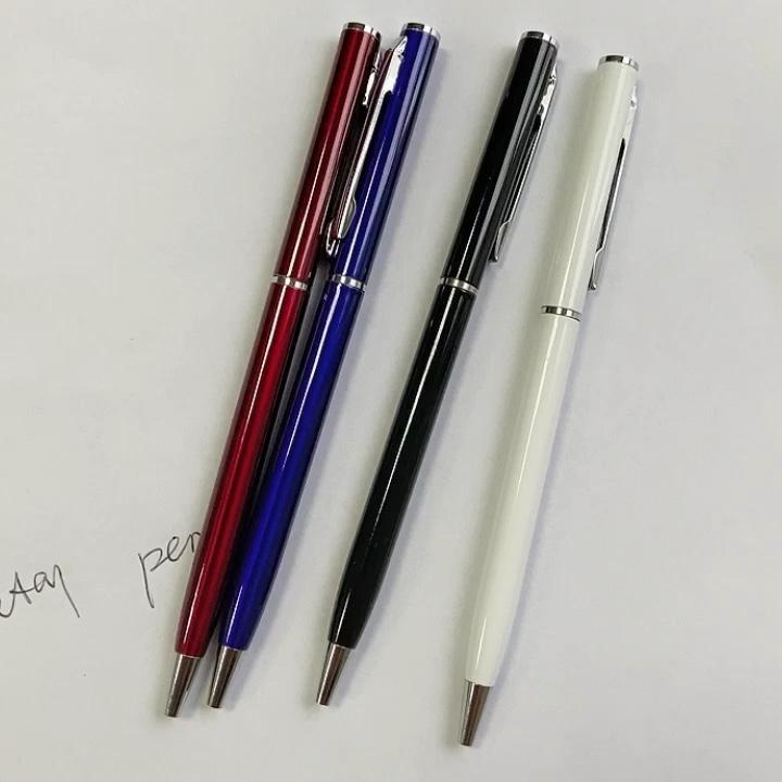 Promosyon Ince Metal büküm eylem içinde Çapraz Tükenmez Kalemler