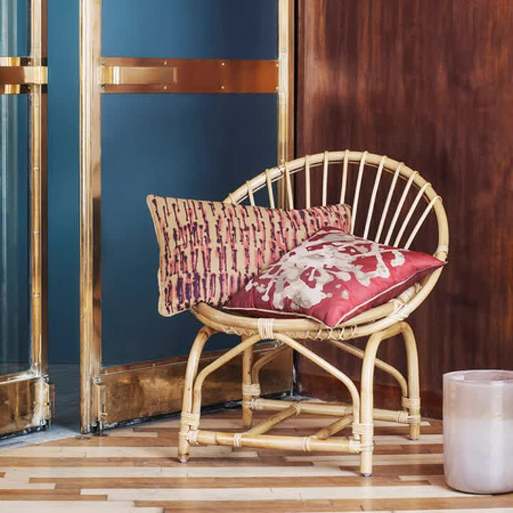 Vintage chair made of 100% natural rattan best deals cheap price no minimum quantity