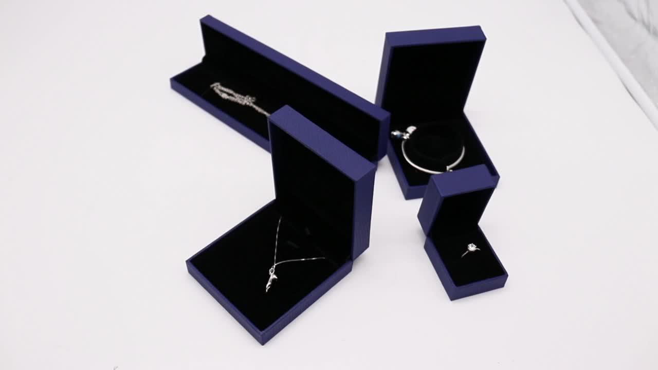 Hohe Qualität lange box verpackung diamant ring Schmuck Box set Mit Hoher Qualität