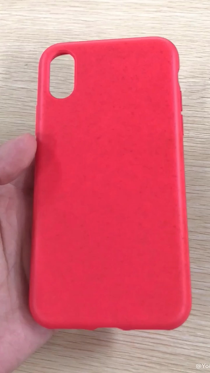 Wheat Straw Anti-Slip Anti-Scratch Shockproof  Phone Case for iPhone XR Eco-Friendly silicone rubber phone case