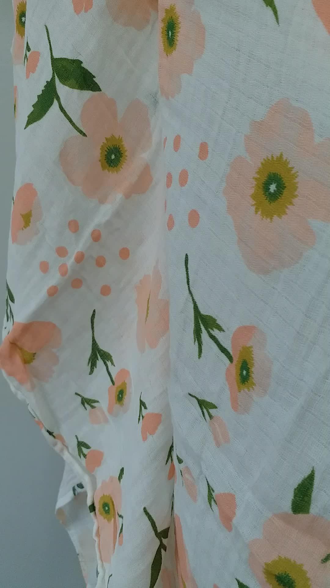 100% Muslin Organic Cotton Newborn Baby Swaddles Blankets Gauze Infant Wrap Sleepsack Stroller Cover Swaddle Blanket