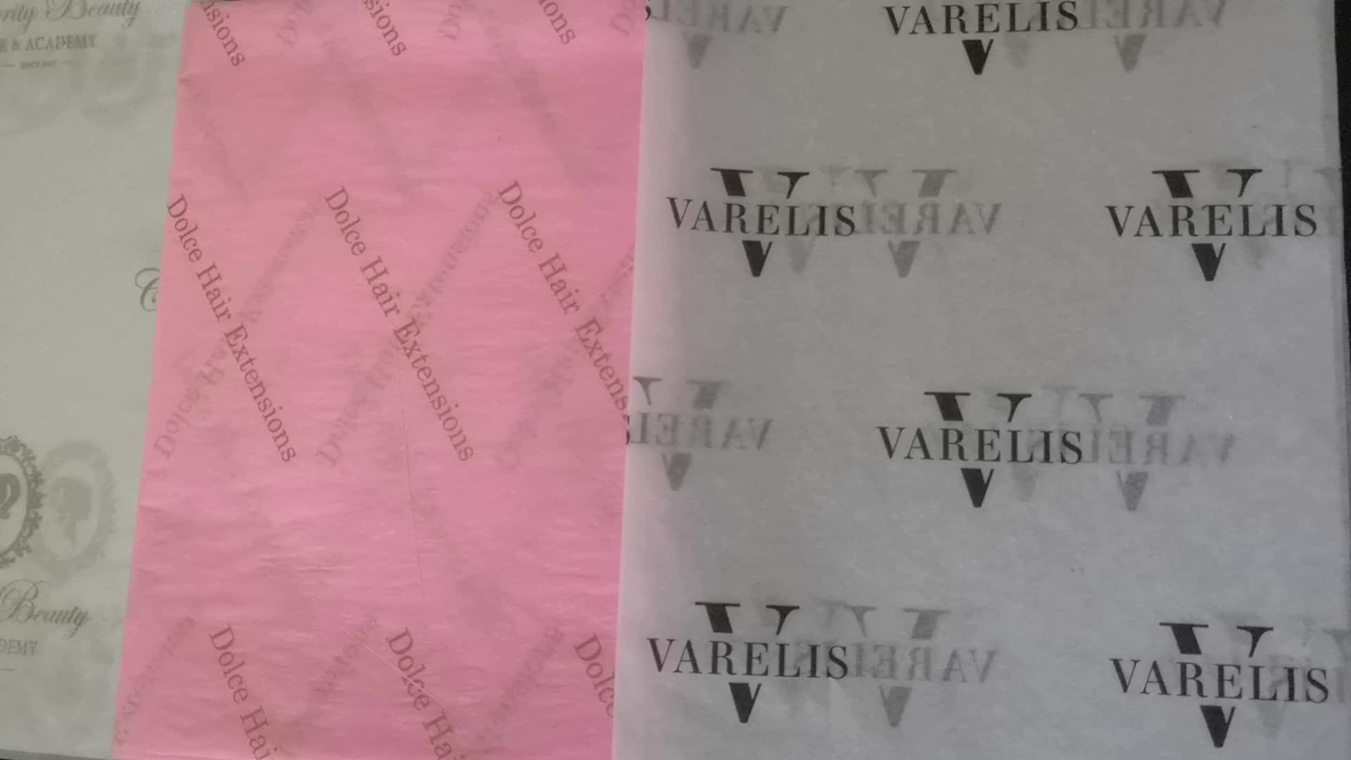 ZPT1-974 Custom พิมพ์สีเทาโลโก้ของขวัญห่อกระดาษทิชชูกระดาษ, ขายส่งผม bundle ห่อสีขาวบรรจุกระดาษทิชชู