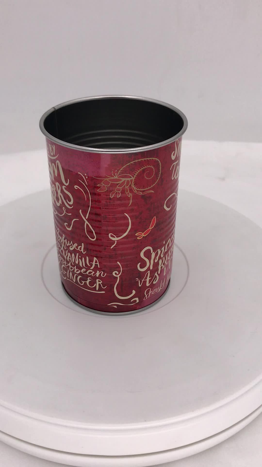 热销450ml马口铁饮料铁罐 圆形密封焊接罐  啤酒杯定制厂家