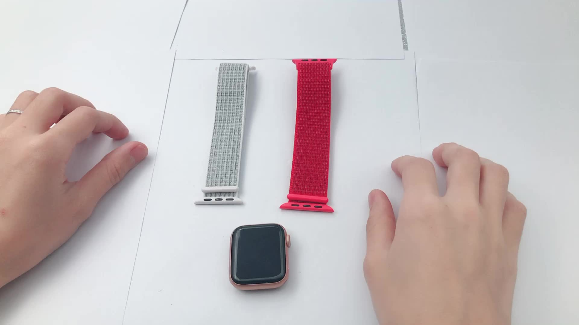 MACTOP New Nylon bands for Apple Watch band series 6/5/4, 38/42mm,40/44mm, for iwatch band with Hook and Loop Fastener