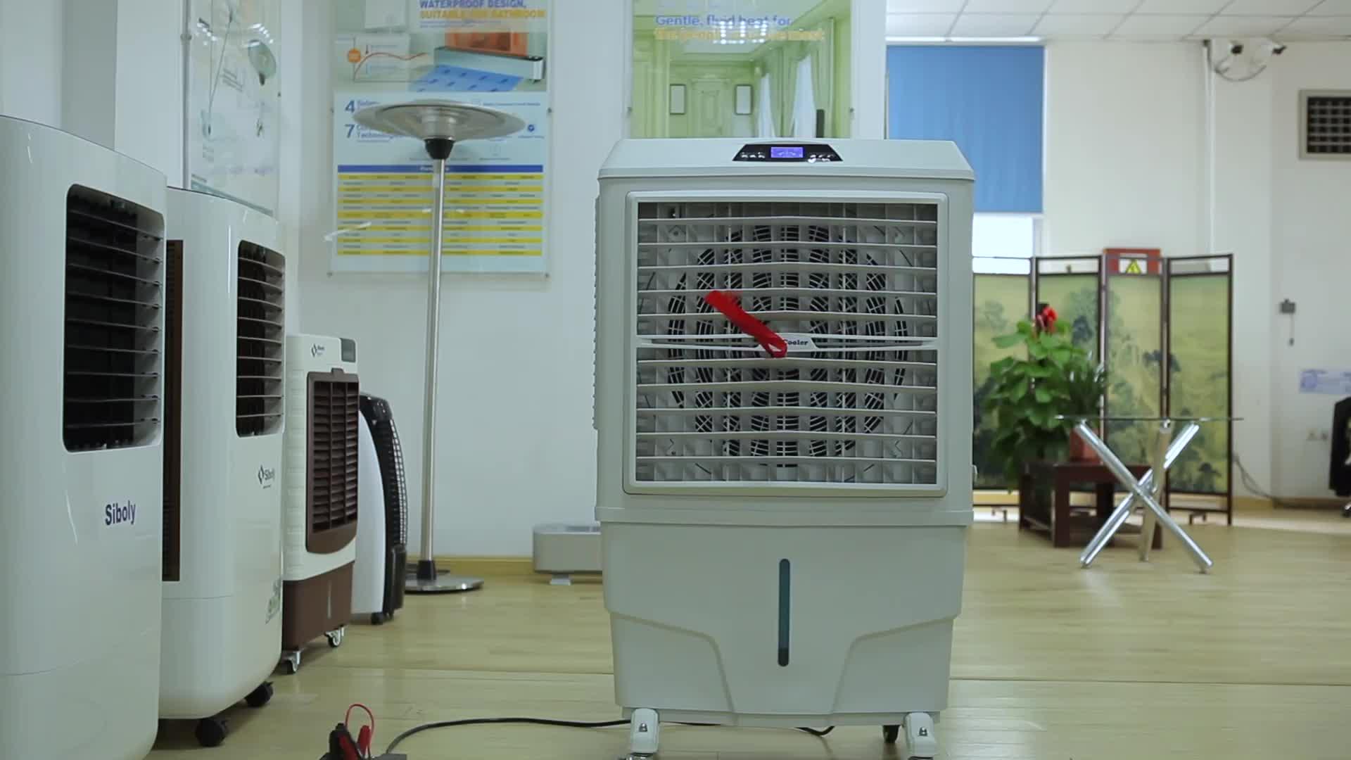 8000 Aliran Udara Komersial Portable Evaporative Air Cooler dengan Remote Control Air Air Cooler Fan G