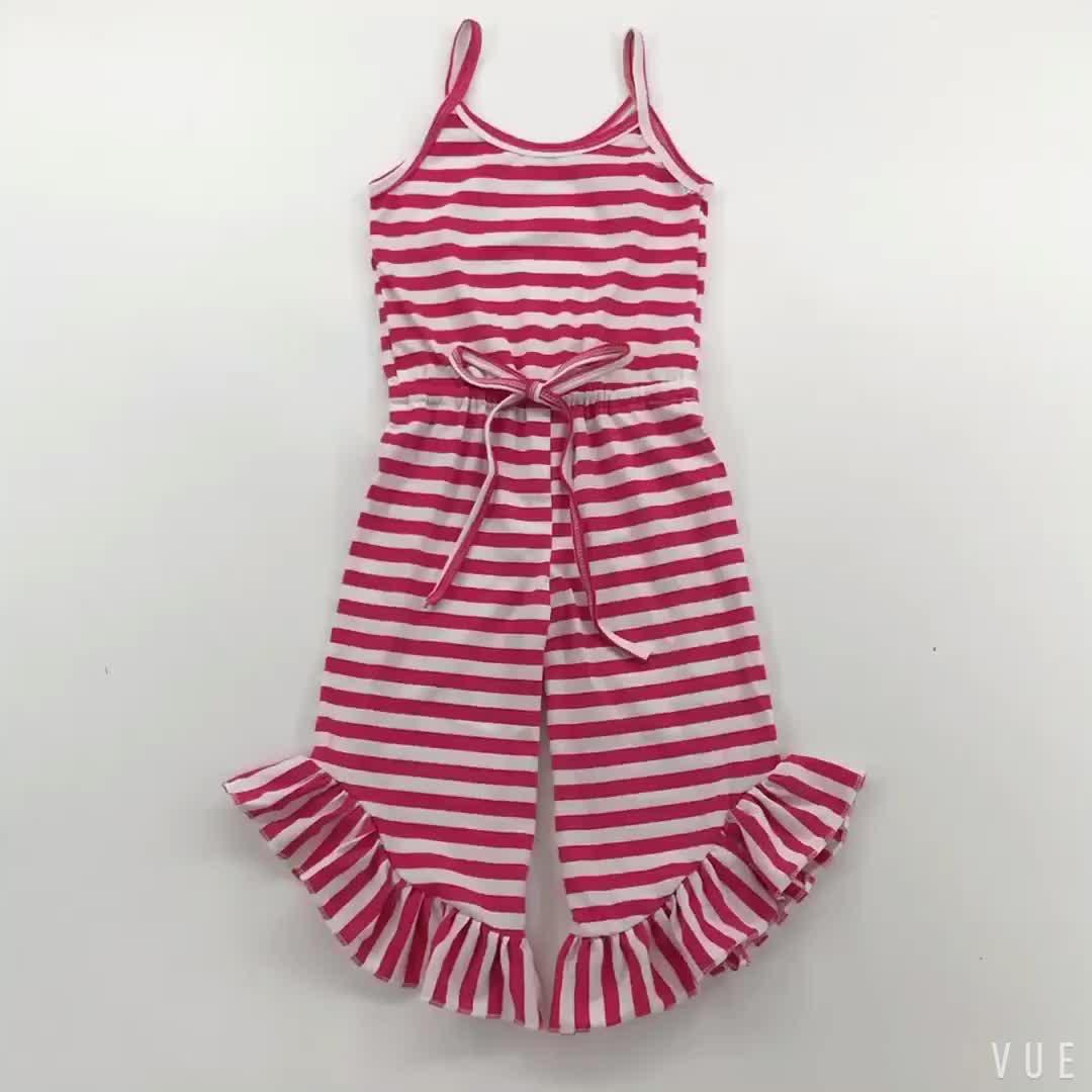 Wholesale Toddler Boutique Clothes Sleeveless Romper Denim Baby Jumpsuit