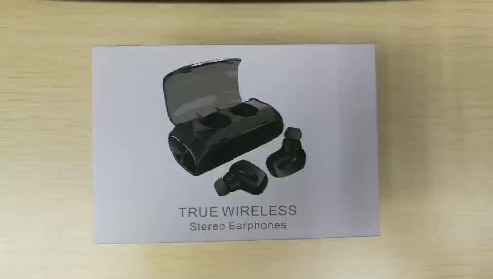 OEM estéreo Tws inalámbrica Bluetooth Auriculares auriculares inalámbricos con cargador